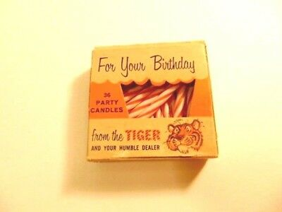 Vintage Humble Gas advertising Tiger in Your Tank birthday candles