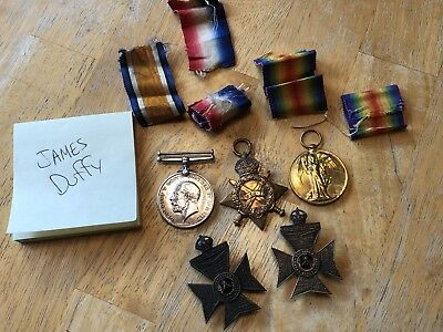 WWI British Medals Grouping Named A. Read R.2297 K. R. RIF. C.