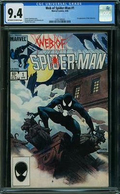 Web of Spider-Man #1 - CGC 9.4 NM - Marvel 1985 - 1st Appearance of Vulturions!