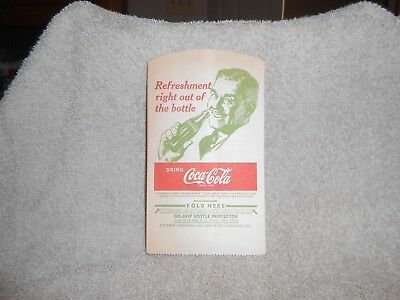 Vintage 1948 Coca-Cola  No Drip  bottle protector