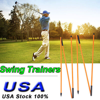 Foldable Golf Alignment Sticks Swing For Training Aid Practice Rods Trainer Aids