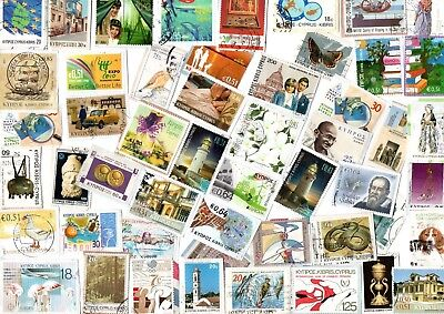 A  Fresh New Selection Of Kiloware Stamps From Cyprus