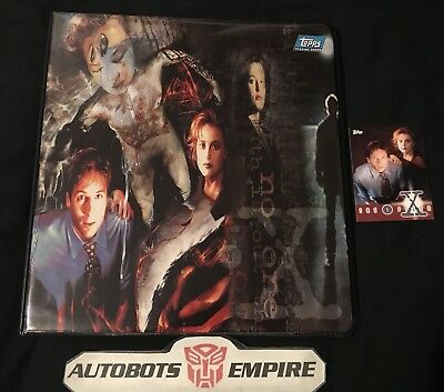 TOPPS Vintage 1995 The X-Files Movie Card Collector Binder Comics scifi Marvel x