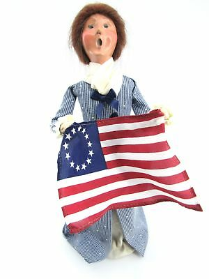 Byers' Choice Soldier - Williamsburg Woman with Flag