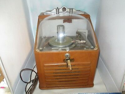 Vintage  Coin Operated RISTAUCRAT Bubble Top 45 RPM COUNTERTOP JUKEBOX W/ KEYS!