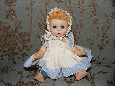 "** 1950s Madame Alexander Little Genius Baby Doll * 7"" * Vinyl/Hard Plastic **"
