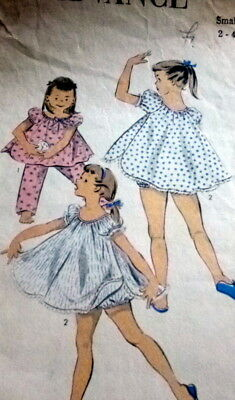 LOVELY VTG 1950S GIRLS PAJAMAS McCALL Sewing Pattern 6 -  5.24 ... f9da2f989