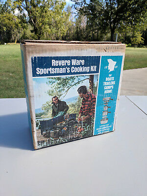 Vintage Revere Ware Compact Sportsman's Cooking Kit Original Box Camping - NOS!!