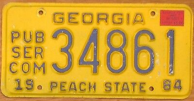 1987 Georgia PSC License Plate Number Tag - $2.99 Start