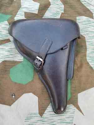 WWII German Luger holster 1936 Ryffel & Borns Hannover with Weimar Waffenamt