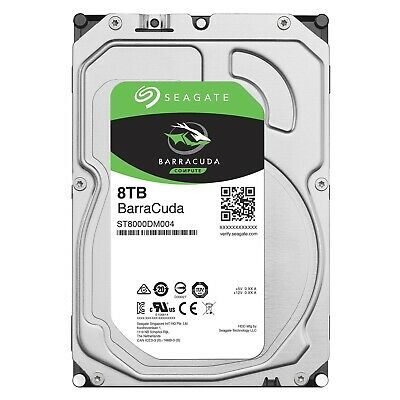 "Seagate BarraCuda 8TB 3.5"" SATA Internal Desktop Hard Drive HDD 5400RPM 256MB"