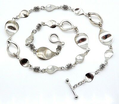 MICHAEL DAWKINS Sterling Silver Ladies Necklace with Toggle Clasp