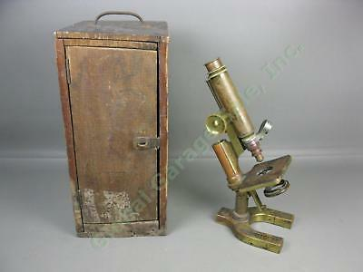 Vtg Antique 1896 Brass Bausch & Lomb Microscope 22434 Series I 1/6 .82 Objective