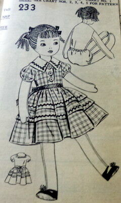 "GREAT VTG 1950s 27"" DOLL & CLOTHING SEWING PATTERN UNCUT"