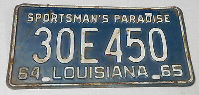 1964/65 Louisiana passenger car license plate