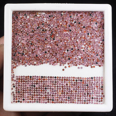 2000 Pcs 1.2mm Natural Rhodolite Garnet Diamond Cut Glittering Gems - 21.50 Cts+