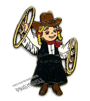 COWGIRL w/ LASSO IT'S A SMALL WORLD DISNEY PIN from 2001 MUSICAL BOXED SET