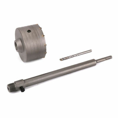 350mm Connect Rod Round Shank Kit & 110mm Wall Hole Saw Drill Bit Use For Cement