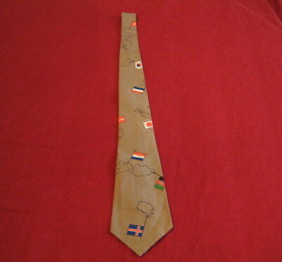 Vintage Flags and Countries of the World Men's Necktie