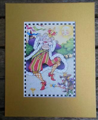 """Mary Engelbreit Print Matted 8 x 10"""" Dancing King"""