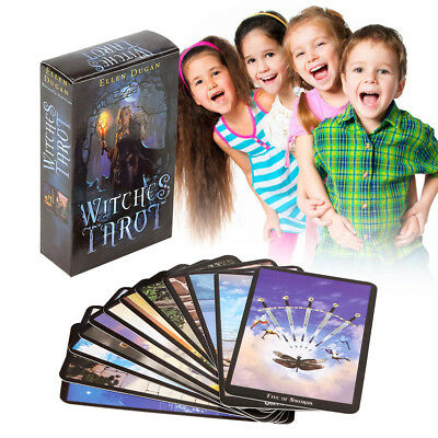 English Edition Witch Tarot Deck Future Fate Indicator Forecasting Cards Gifts