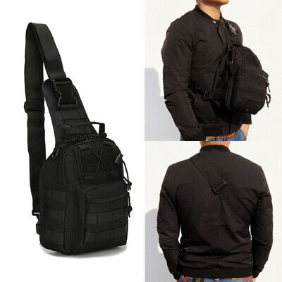 Men Backpack Tactical Sling Chest Bag Assault Pack Messenger Shoulder  Waterproof cb8a6a3619147