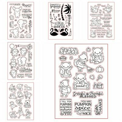 Animals Clear Stamp Scrapbooking Album Photo DIY Craft Seal Decor Paper Cards