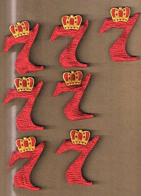 Seagrams 7 Crown Royal Vintage Embroidered Patches 7 Pieces