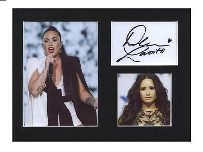Demi Lovato signed printed autograph photo print mounted gift display #F