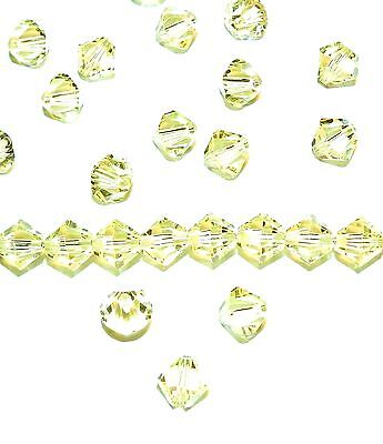 SCB539 Jonquil Yellow 6mm Faceted Xilion Bicone Swarovski Crystal Beads 24pc