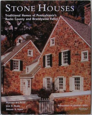 American Stone Houses of Bucks County Pennsylvania Brandywine Valley -Great Book