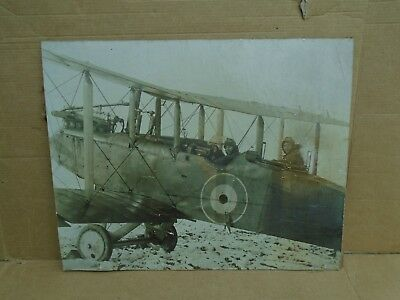 RFC Royal Flying Corps Photograph (RAF?) WWI World War One Airco DH.9 Bomber