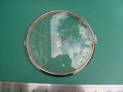 OS#38 1930'S Mantle Clock Part Bezel & Convex Glass max outer dia 155mm