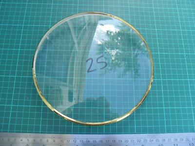 OS#25 1930'S Mantle Clock Part Bezel & Convex Glass max outer dia 199mm