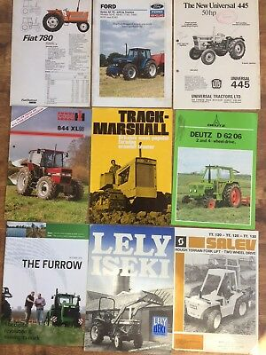 9x Tractor Machinery Brochures Case IH Lely Track Marshall Deutz Fiat Ford CHF19
