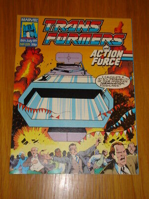 Transformers British Weekly #225 Marvel Uk Comic 1989