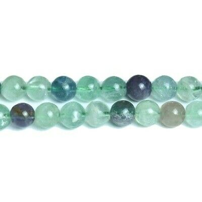 Rainbow Fluorite Round Beads 6mm Green/Purple 60+ Pcs Gemstones Jewellery Making