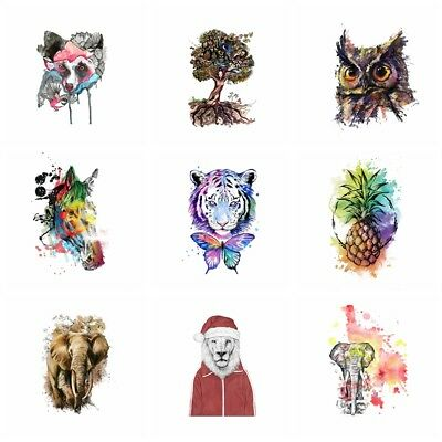 Colorful Animals Iron on Heat Transfer Printing Patches Stickers DIY Appliques