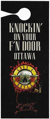 Guns 'n Roses Knockin' On Your F'n Door Ottawa Show 2017 Td Place Bookmarks