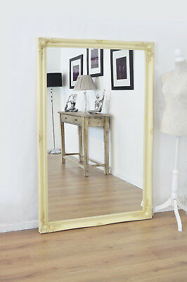Large Wall Mirror Ivory Antique Style Ornate Cream 5Ft6 X 3Ft6 167 X 106cm
