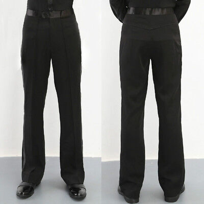 Men Ballroom Latin Modern Dance Pants Trousers Dancewear Competition Practice