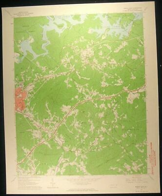 Marion North Carolina Nebo Jacktown 1964 vintage USGS original Topo chart map