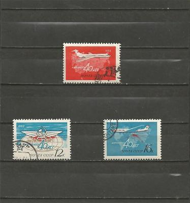 RUSSIA - 1963 The 40th Anniversary of Soviet Aeroflot Airline - USED SET.