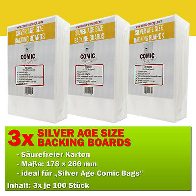 300x Comic Concept Silver Age Boards (178 x 266 mm)