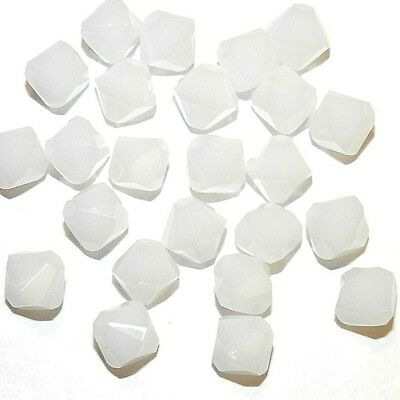 SCB590 White Alabaster Opaque 6mm Faceted Bicone Swarovski Crystal Beads 24pc