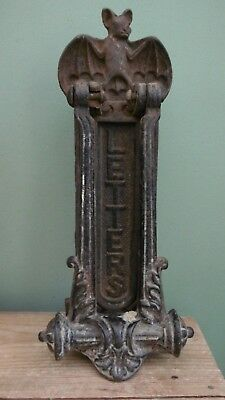 SUPERB 19thc ARCHITECTURAL GOTHIC KENRICK & SONS BAT DOOR KNOCKER C.1880's