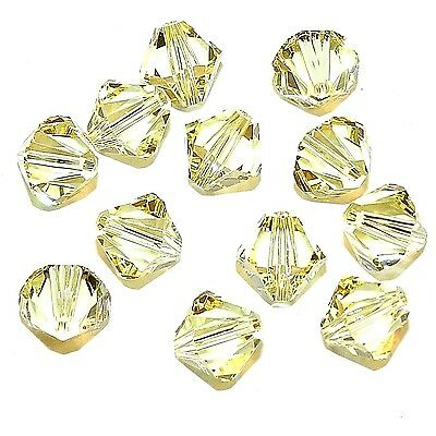 SCB639 Jonquil Yellow 8mm Xilion Faceted Bicone Swarovski Crystal Beads 12pc