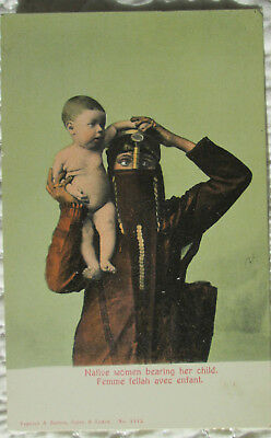 c1907 Native Woman and Child in Egypt postcard view - nice!