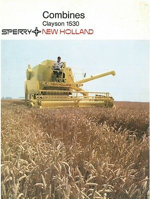 Sperry New Holland Combine Clayson 1530 Brochure