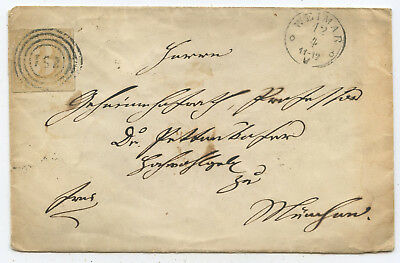 AD Thurn & Taxis Brief Weimar München 1867 EF MiNr 50